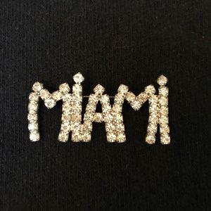 Jewelry - Vintage Rhinestone Pin: Miami
